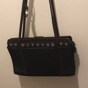 Brighton black studded handbag